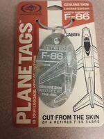 North American F-86 Sabre Planetags / Plane Tag - Free Shipping