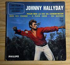 45t EP Johnny Hallyday - Pour moi la vie va commencer - BIEM