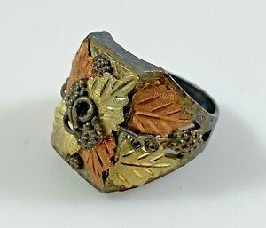 Black Hills Gold Sterling Silver Ring Size 11 Vintage Men's 15.4 Grams