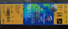 TICKET DE MATCH FOOTBALL J.O. SYDNEY 2000 -- COREE DU SUD - ESPAGNE RARE