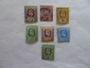 N Nigeria Edward VIIth m/mint and used selection