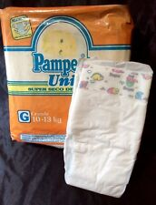 Vintage Pampers Uni Super Seco Delgados Diaper Sz Grande Mexico Import *Rare*