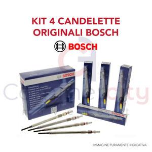 CANDELETTE ORIGINALI BOSCH ALFA ROMEO 159 1.9 JTDM 150 CV 110KW 46792355 4 PEZZI