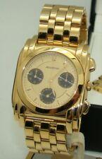BULOVA MEN's 36mm GOLD-TONE ACCUTRON QUARTZ CHRONOGRAPH WATCH 1992 MINT BOX/PP