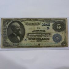 1902 $5 NATIONAL CURRENCY SEARSPORT MAINE  NATIONAL BANK LARGE US NOTE