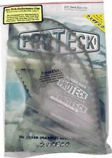 Pteck Pwr-Flex Ffs 4.25 Clear/Black Surfboard Fin - Set Of 3Pcs
