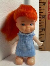 Vintage Pee Wee Clone Hong Kong 1960's Red Hair Molded Shoes