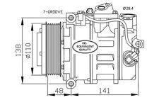 NRF Compresor, aire acondicionado SEAT LEON MERCEDES-BENZ VITO BMW VOLVO 32729