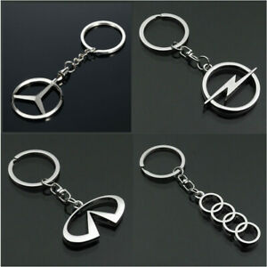 Fashion 3D Howllow Out Car Logo Keychain Metal Emblem Pendant Keyring Key Holder