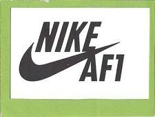 Small Nike Air Force 1 Plastic Sign For Home/ Office  6 1/2 inche X  4 1/4 inche