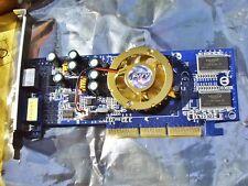 Pny Verto GF salida de TV tarjeta gráfica AGP 8x 128MB DDR400 FX5200 #GF05200A8D11JP8 0C
