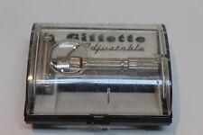 Vintage 1960 Gillette Fat Boy F4 Adjustable Safety Razor w/ Case