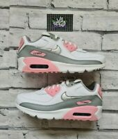 New Deadstock Nike Air Max 90 LTR GS Smoke Grey Pink 6 UK 7Y US 40 EU in Hand