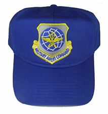 USAF Air Force Military Airlift Command Mac Shield Hat Royal Blue Veteran