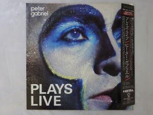 Peter Gabriel Plays Live Charisma 18S-168~9 Japan Promo  LP OBI