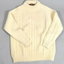 Vintage Cornel Donegal Cream Chunky Sweater Fisherman Hand Loomed Ireland Size M