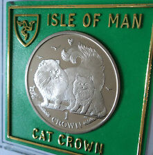 2009 Isle of Man Chinchilla Breed Cat Kitten Crown Coin (BU) Collector Gift Set