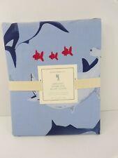Pottery Barn Kids Shark Bite Duvet Cover Twin Blue #6251