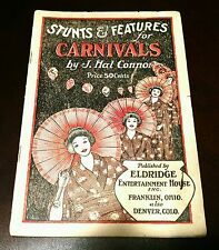 Stunts & Features for Carnivals by J. Hal Connor 1927 1st Edition Eldridge House