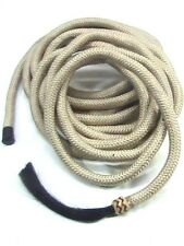 D.A. Brand Beige 22' Poly Blend Mecate Reins with Horse Hair Tassel horse tack