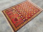 """4'11""""×3'5"""" ft Afghan Prayer Rug Best Trible Baloch Rug Oriental Wool Rug vintage"""