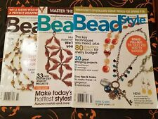 Bead Style Magazine 3 Issues March September and November 2009