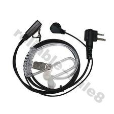 2 Pin SIA Covert Security Earpiece Headset for Motorola Radio PTT CP040 GP300