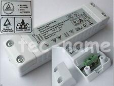 SLIM-LINE HALOGEN TRAFO NETZTEIL 20-60W WATT 230V/12V DIMMBAR 21 mm FLACH TÜV