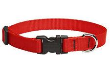 """Lupine Dog Collar 1"""" RED 16"""" - 28"""" New Nylon Adjustable USA"""