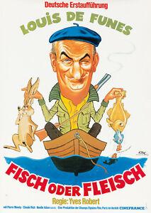 Original Vintage Film Affiche Ni Vues Nor Reconnu Louis De Funes Français