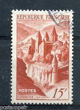 FRANCE 1947, timbre 792, ABBAYE DE CONQUES, oblitéré