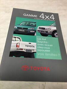 Toyota gamme 4X4 1999 catalogue brochure prospectus publicité dépliant