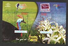 INDONESIA 2008 TAIPEI INT'L STAMP EXH. SOUTHERN CASSOWARY SOUVENIR SHEET MINT