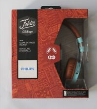 Philips Brown Turquoise  Foldie Citiscape Headphones With Mic Model SHL 5505GB