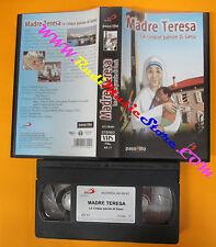 VHS film MADRE TERESA Le cinque parole di Gesu 2003 animazione (F126) no dvd