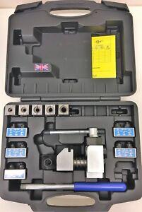 Professional Flaring Tool Brake Pipe Tube Flare Kit 5 Dies Fuel line 3/16 - 1/2