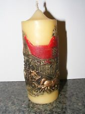 Vintage Currier and Ives Horse and Carriage Scenic Candle