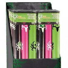 BONE COLLECTOR GIFT WRAPPING PAPER - PINK, BLACK, GREEN, LOGO ANTLER