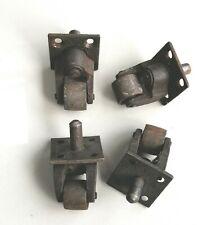More details for 4 x vintage metal caster wheels