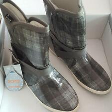 16afe28c089 Sporto Original Duck BOOTS Hayden Grey Waterproof Womans Rain Ankle Low  Plaid 6m