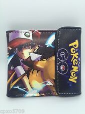 Pokemon Ash & Pikachu evolution boy&girl cute wallet PU Leather Purses WALLET