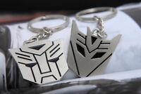 Metal Transformers Autobot & Decepticon Symbol Keychain [ONE PAIR] cosplay