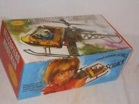 VINTAGE TOY - MADELMAN Set Helicóptero helikoptero con figura y Accesorios -