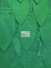 LEAF STYLE TAFFETA FABRIC - Hunter Green - BY THE YARD ROSETTE SATIN DRESS DECOR