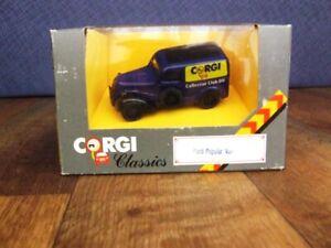"""Corgi Classics # D980 Ford Popular Van """"Corgi Collectors Club 89"""""""