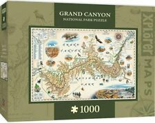 Grand Canyon Map 1000-Piece Jigsaw Puzzle