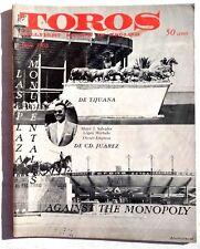 Vintage June 1963 Toros (Matador) Bullfighting Review In English Magazine