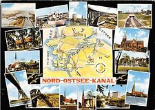 BG2141 nord ostsee kanal map cartes geographiques  CPSM 14x9.5cm germany