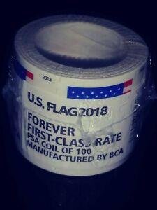 1 Roll Coil of 100 Postage 2018 Forever Stamps Sealed Unopened US Seller