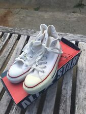 Women's Vintage Converse Chuck Taylor All Star Made USA Shoes Off White Size 4